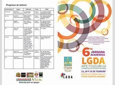 ITSON Calendario VI Jornada Académica LGDA