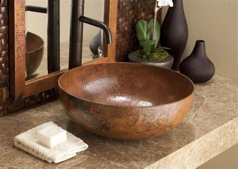 Maestro Round Tempered Copper Sink By Native Trails