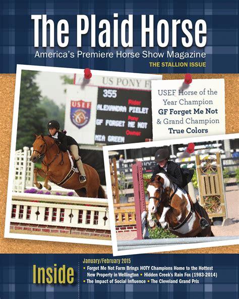 plaid horse  stallion issue    plaid