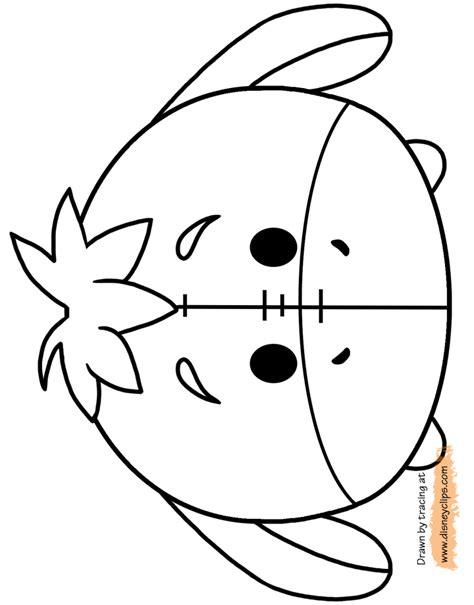 disney tsum tsum coloring pages disneyclipscom