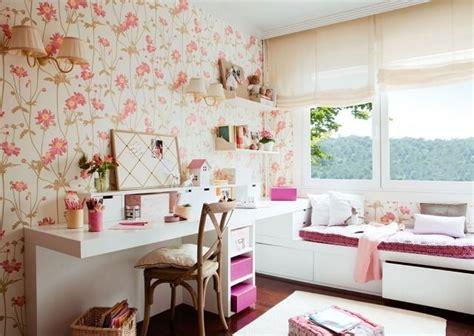 Jugendzimmer Wandgestaltung Farbe Mädchen by Wandgestaltung Jugendzimmer M 228 Dchen Tapete Blumenmuster