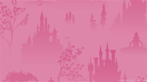 disney princess pink tonal scenic wallpapers