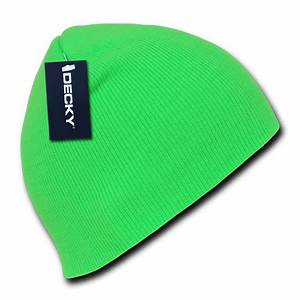 Decky Bright Neon Short Uncuff Beanies Beany For Men Women