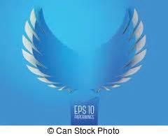 engelsflügel klein blaues gl 252 hen fl 252 geln engelchen blaues scheinen engelchen symbol metall abbildung