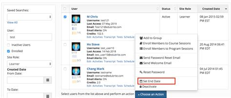 deactivation site date end extend removed access updated