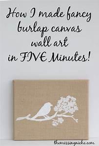 Burlap canvas art on