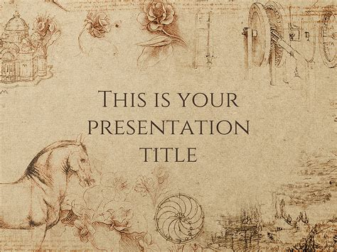 history template free powerpoint template or slides theme with historical style
