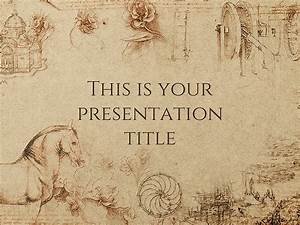 Free presentation template: Historical style