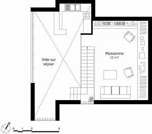 plan dune maison avec mezzanine maison moderne With plan maison avec mezzanine