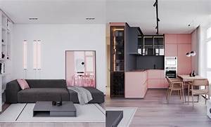 A Striking Example Of Interior Design Using Pink Grey
