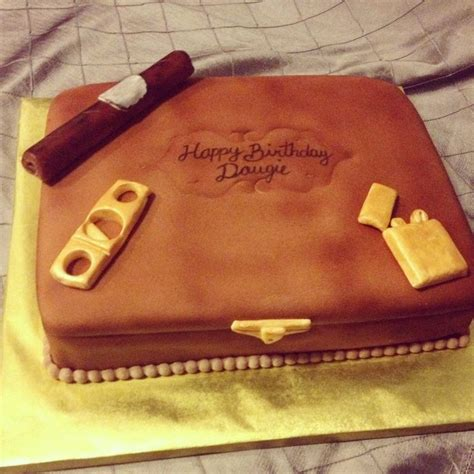 cigar themed cakes   fathers day