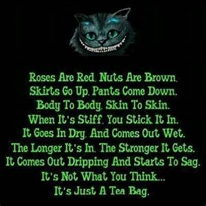 Not what you think. You dirty minded. Lol   Love, poems ...