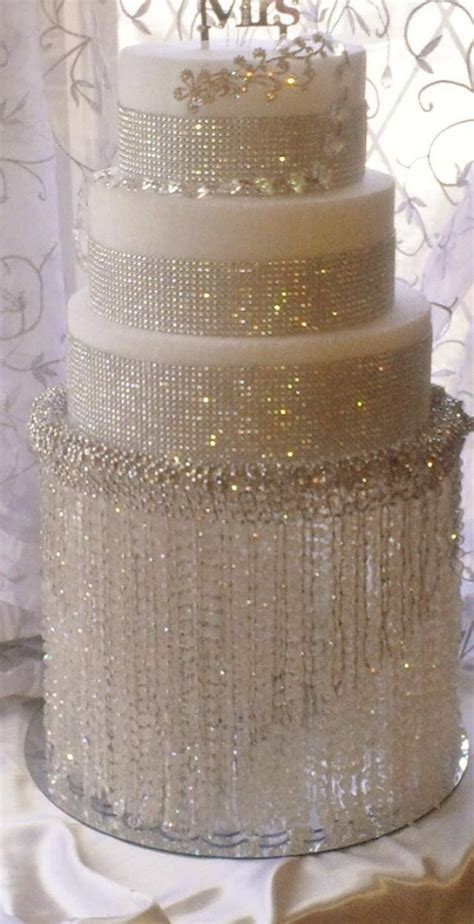 wedding cake stand  crystals chandelier acrylic beads