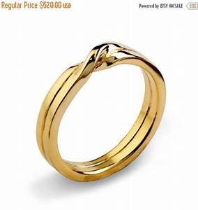 Christmas SALE - LOVE KNOT 14k Yellow Gold Wedding Band ...