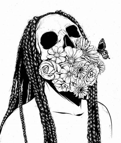 Skull Drawings Graveravens Skeleton Heads Animated