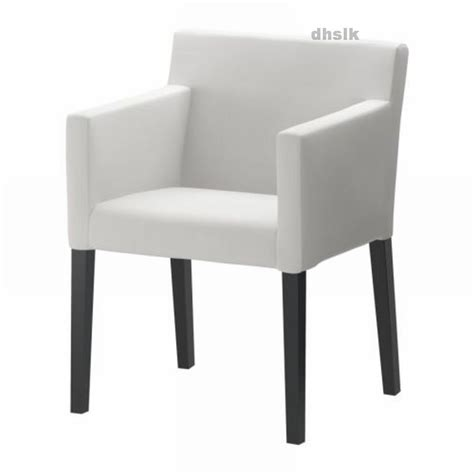 ikea nils chair w armrests slipcover cover blekinge white