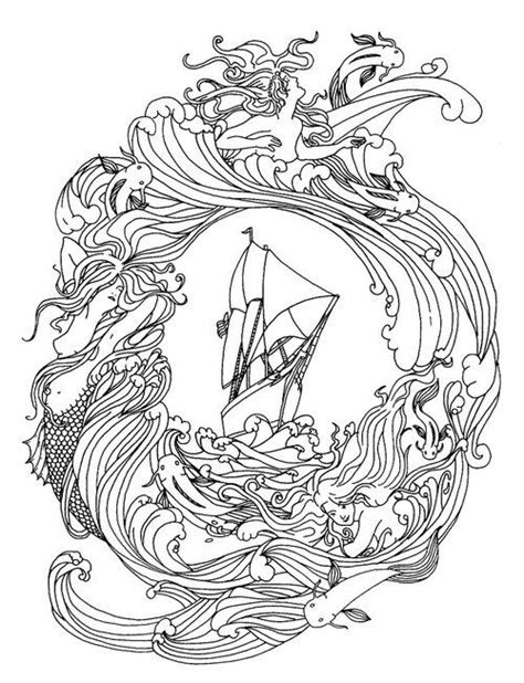 Pin by Victoria Hartzell on manga   Mermaid coloring