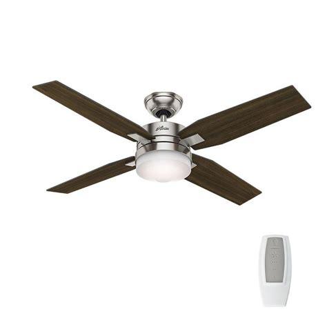 hunter universal ceiling fan remote hunter mercado 50 in indoor brushed nickel ceiling fan