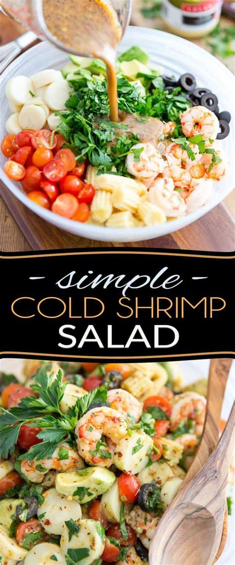 Looking for a simple, healthy and tasty shrimp salad recipe? Simple Cold Shrimp Salad | Recipe | Healthy cold lunches, Cold shrimp salad recipes, Cold lunches