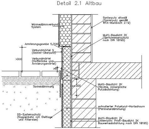 Bodentiefes Fenster Detail by Cad Detail Sockelabdichtung Im Altbau Detail 2 1