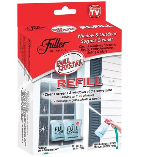 tv seen cleaner crystal glass brush fuller refill cleaning tools oz