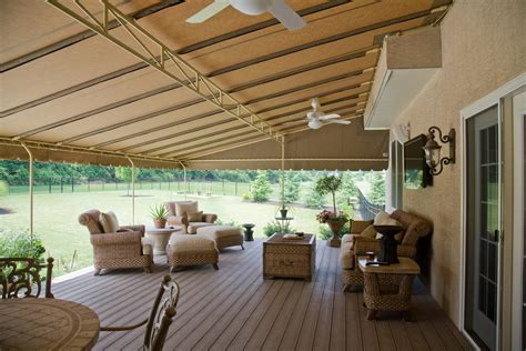 large sunbrella deck awning custom degree corner kreiders canvas service