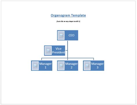 Company Organogram Template Word