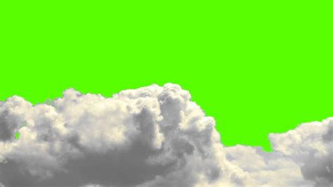 real clouds   green screen background  royalty