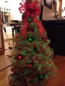 deco mesh christmas tree christmas pinterest