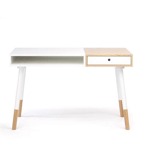 bureau bois blanc bureau design blanc sonnenblick par drawer fr