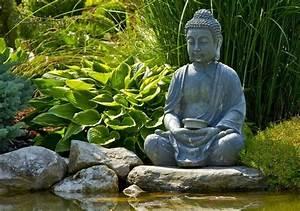 statue de jardin zen le bouddha eternel et l39art de With französischer balkon mit buddha statue für garten