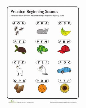 c is for review beginning sounds worksheet education