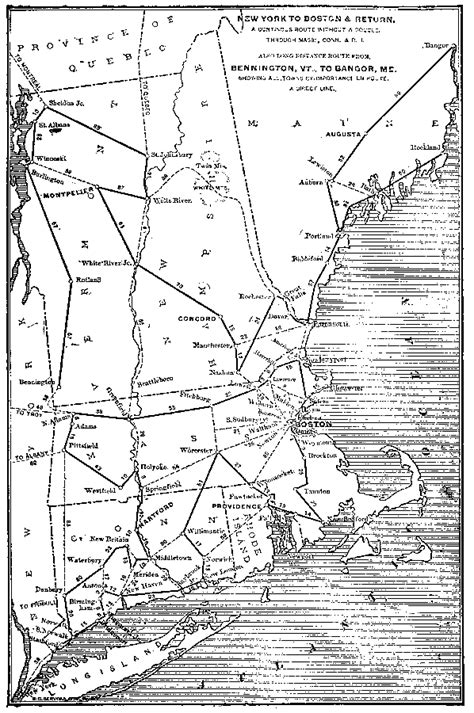 Long Distance Routes Between New York And Boston