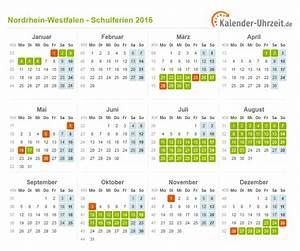 Schulferien 2016 Nrw : ferien nordrhein westfalen 2016 ferienkalender zum ausdrucken ~ Yasmunasinghe.com Haus und Dekorationen