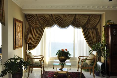 swag curtain ideas for living room drapery curtains and window coverings traditional