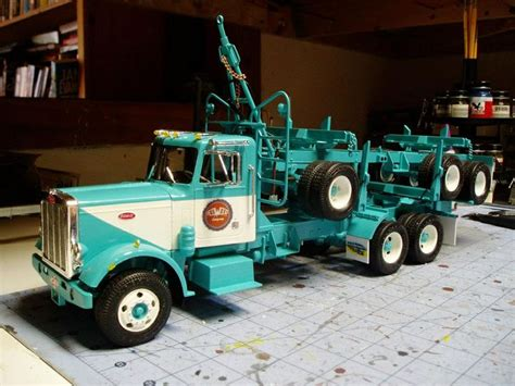 model semi trucks peterbilt log truck die cast models pinterest
