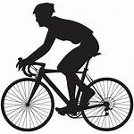 Cyclist Silhouette Bicycle Bike Clip Cycling Clipart