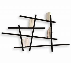 Bibliothèque Murale Contemporaine : biblioth que mikado small l 185 x h 100 cm noir compagnie ~ Teatrodelosmanantiales.com Idées de Décoration