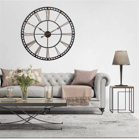 Living Room Wall Clocks Uk by 12 Inch Think Safety Black Resin Wall Clock Clock By Room