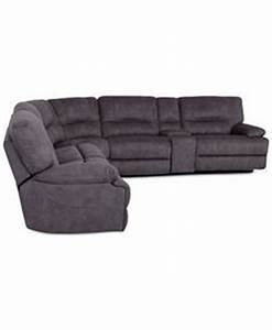 Destin leather 5 piece sectional sofa with 3 power for Cody fabric 6 piece chaise sectional sofa with 1 power recliner