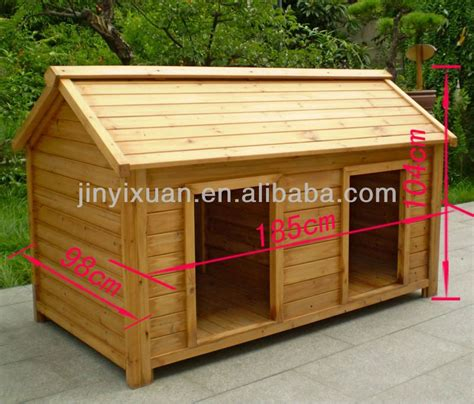 wood double dog kennel outdoor large dog house