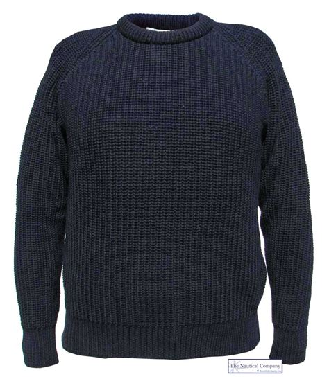 fisherman s sweater 39 s fishermans jumper navy blue the nautical company uk