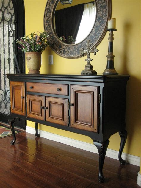 Black Kitchen Sideboard by European Paint Finishes Black Sideboard W Wood Inlay