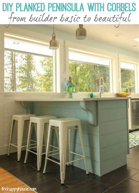 remodelaholic update  plain kitchen island  peninsula