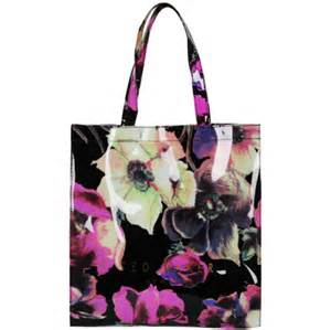 designer handbag sale ted baker florcon anemone flower printed icon tote bag multi womens accessories zavvi