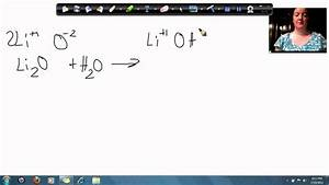 lithium Oxide And Water Make Lithium Hydroxide - YouTube