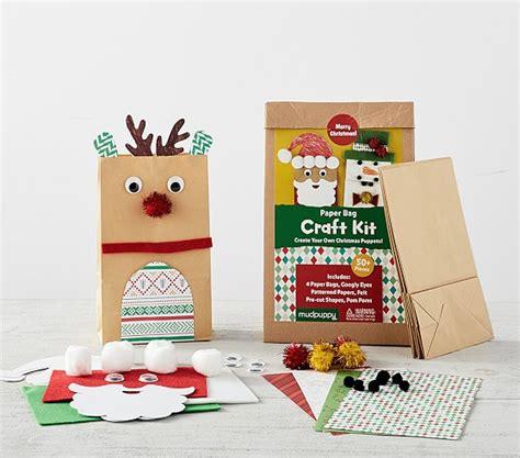 christmas paper bag craft kit pottery barn kids