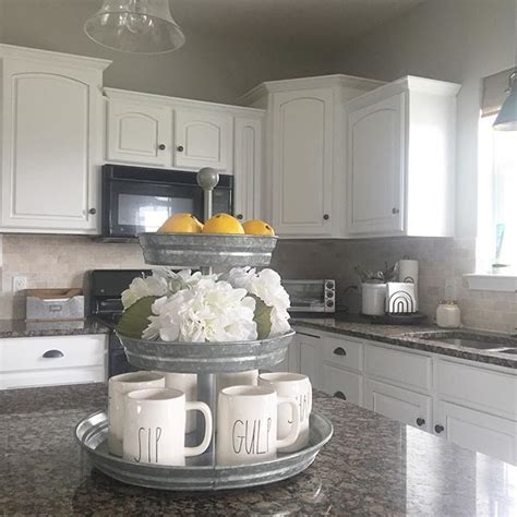 farmhouse style kitchen galvanized steel white cabinets