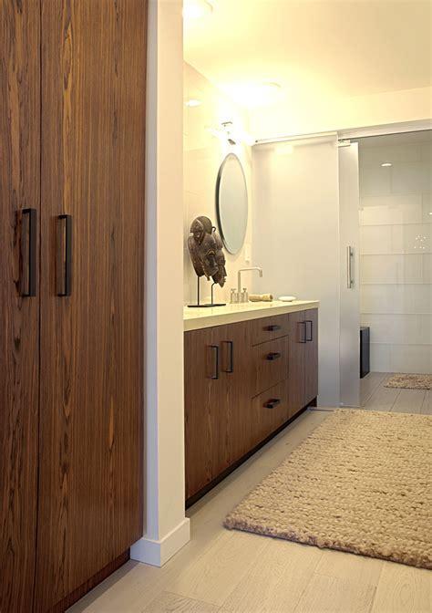 sliding glass shower doors Bathroom Contemporary with bath