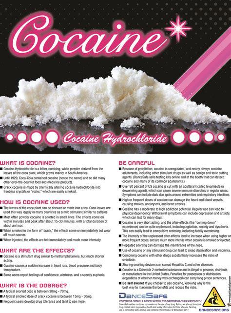 cocaine drug info cards  cards